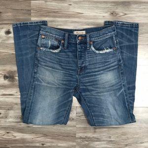 Madewell high waist cruiser straight jean size 25